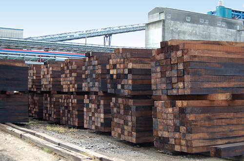Injected railroad ties
